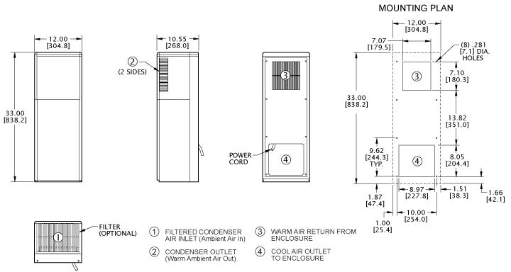 Advantage KXRP33 Heat Exchanger general arrangement drawing