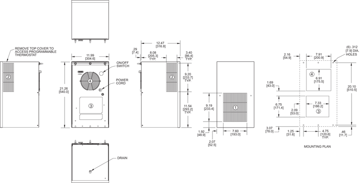 Integrity P21 Air Conditioner general arrangement drawing