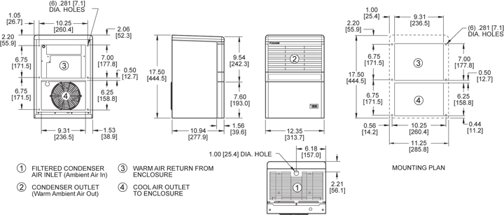 Advantage RP17 Air Conditioner general arrangement drawing