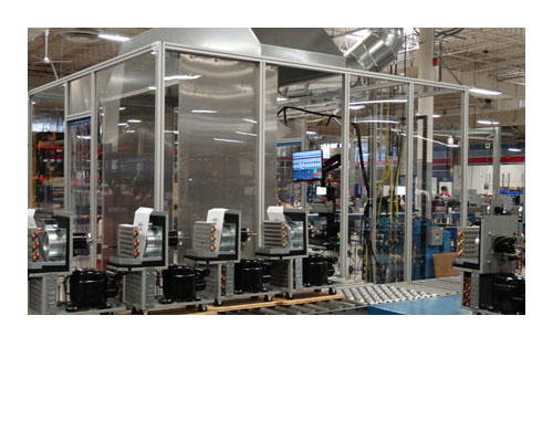 leak prevention and in-process refrigeration testing